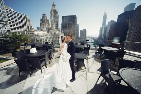 Beautiful wedding couple 스톡 콘텐츠