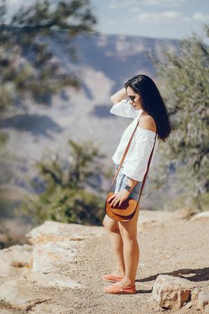 girl exploring the grand canyon in Arizona
