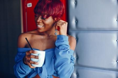 stylish black girl Imagens