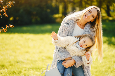 young mother with toddler Stock Photo