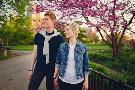 stylish american family 版權商用圖片