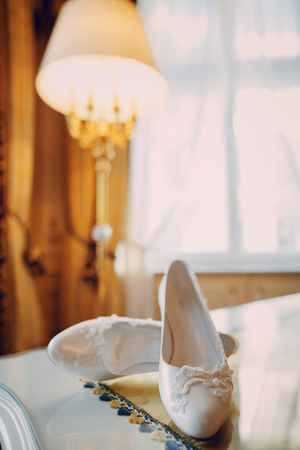 Wedding shoe Foto de archivo - 123857200