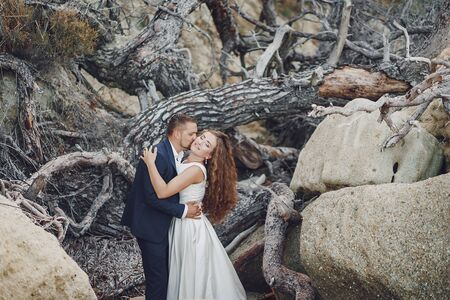 grooms in nature