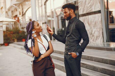 couple in a city Stok Fotoğraf