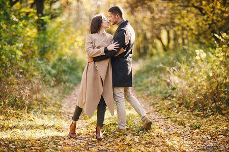 couple dans le parc
