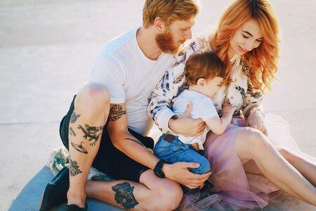 家庭在公园