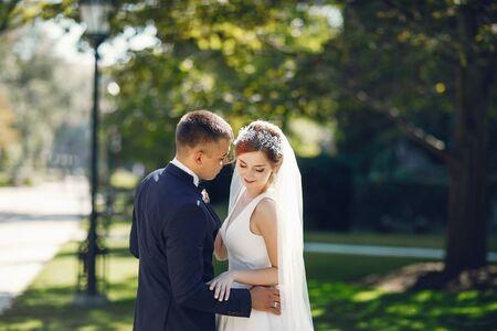 Beautiful wedding couple Stock Photo