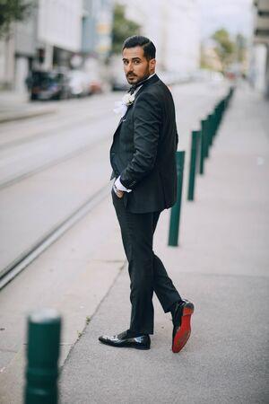 stylish groom