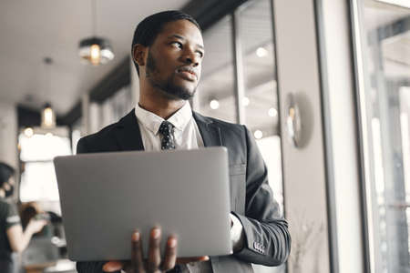 Elegant african man in the office