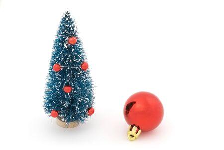 Christmas tree with christmas tree red balls  photo