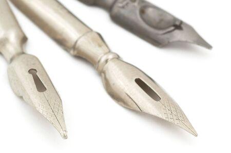 Old fountain pen. Selective focus Stock Photo - 4914356
