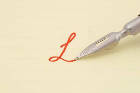 selective: Old fountain pen. Selective focus Stock Photo