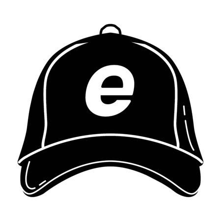 Gaming cap glyph icon. Esports equipment. Team cap silhouette symbol. Negative space. Vector isolated illustration Иллюстрация