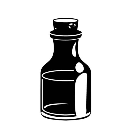 Glyph Massage oil for beauty spa salon, vial black silhouette icon. Essential fragrance aromatherapy. Wellness perfume. Medical ayurveda isolated Vector pictogram.