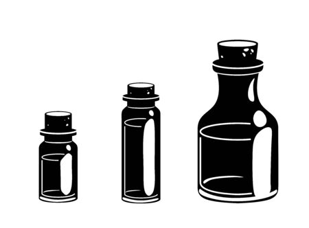 Glyph three vials icon. Massage oil for beauty spa salon. Essential fragrance aromatherapy black silhouettes. Wellness perfume. Medical ayurveda isolated Vector pictogram. 일러스트