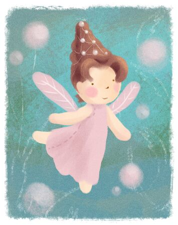 Little pink princess magic pastel poster.