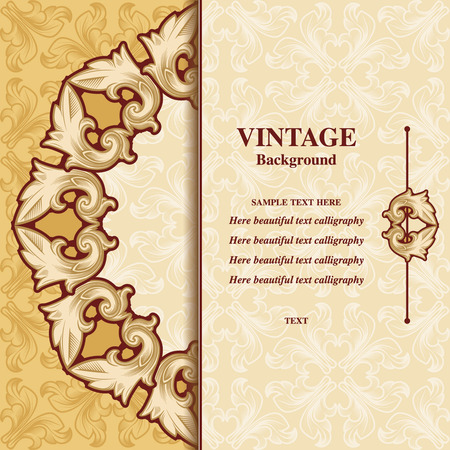 nuptials: Vintage background invitation beautiful, luxurious cards, ornate page cover, decorative pattern pattern for design