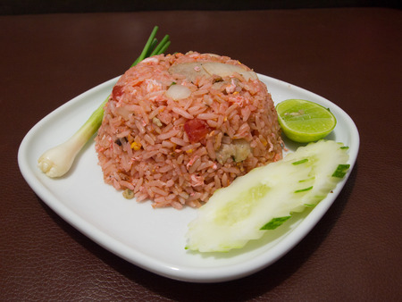 thai food: Fried rice with pork Thai Food