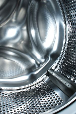 launderette: Fragment of a laundry machine Stock Photo