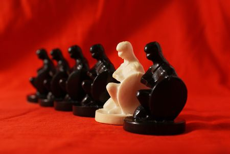 Chess concept of a difference Stock Photo - 4088272
