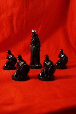 Chess concept of protection (focus on Queen) Stock Photo - 4088288