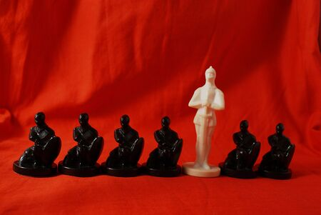Chess concept of a difference Stock Photo - 4088258