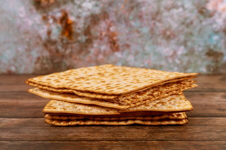 Israeli matzah bread for the Jewish holiday Pesach.