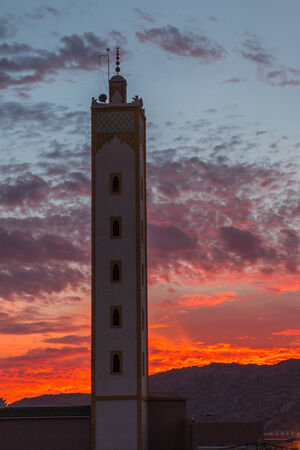marocco: Minaret Tower in Marocco Stock Photo