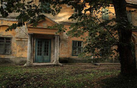 madhouse: Vintage photo of abandoned madhouse