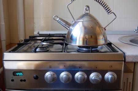 Estufa de gas. Equipo de cocina.