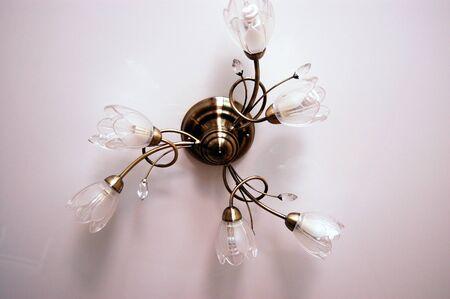 lighting fixtures: Chandelier - 6 fixtures The lighting of the room.