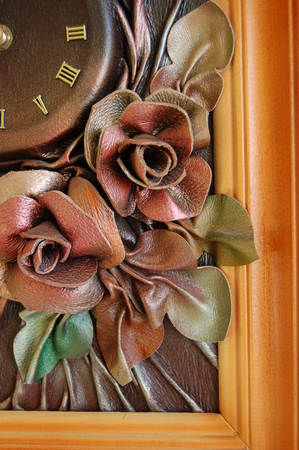 applique flower: Old clock two. Time 23:52