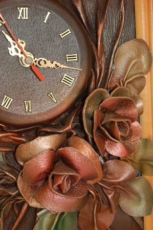 applique flower: Old clock two. Time 22:19
