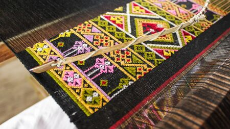 Weaving handmade of people in Sukhothai from Thailand.