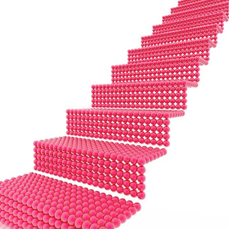 reflaction: Red ladder the leader on top Stock Photo