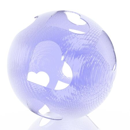 the enamoured: Blue enamoured sphere from glass Stock Photo
