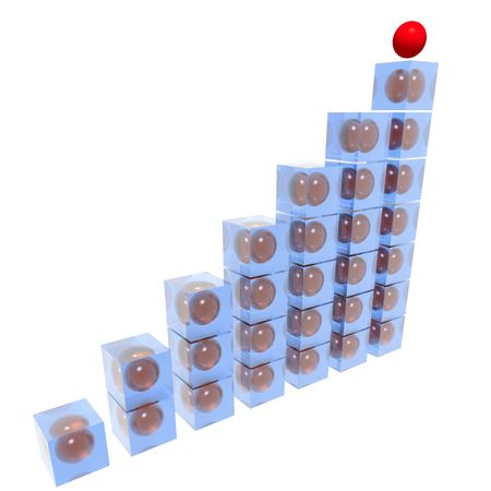Business the concept consisting of the schedule, at which top a red sphere photo