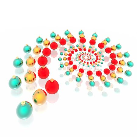 Glamour christmas spheres of green, gold and red color photo