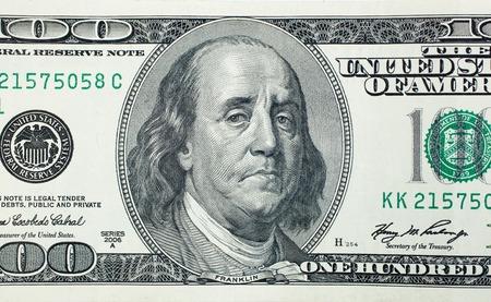 deplorable: Sad President Benjamin Franklin on 100 US dollar bill