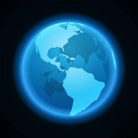 north pole sign: Globe earth night light icon vector design element Illustration