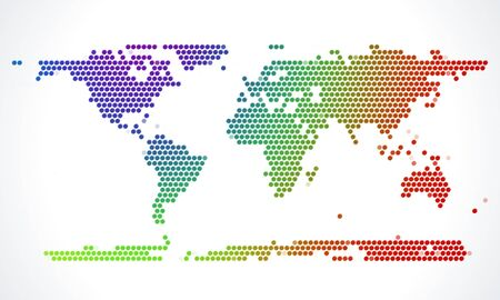 world trade: Abstract world map from dots vector illustration