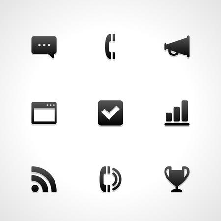 site web: Sito web icone vettoriali set Vettoriali