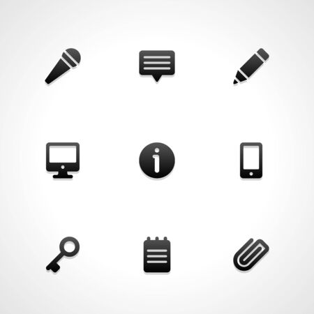 edit icon: Web site vector icons set