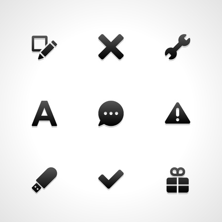 select: Web site vector icons set