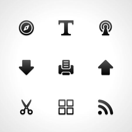 Web site vector icons set  Vector