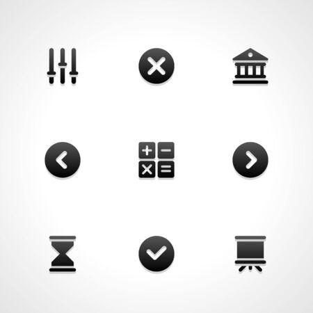 plus icon: Web site vector icons set