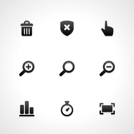 Icônes de sites Web vectoriels mis en