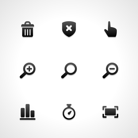 search bar: Web site vector icons set