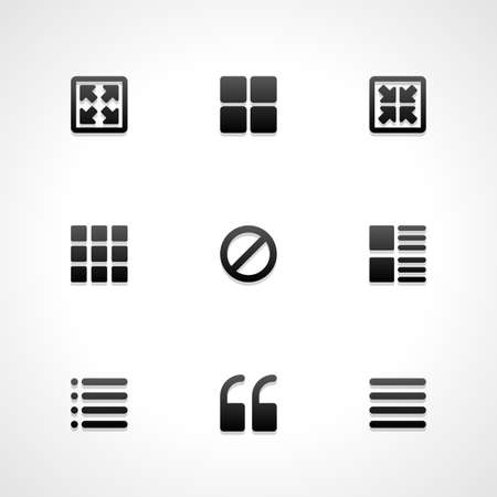 resize: Web site vector icons set