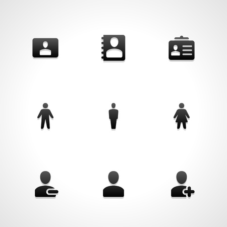 Web site vector icons set  Vector